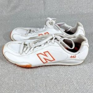 New Balance 442 White Orange Women's Shoes Size 9